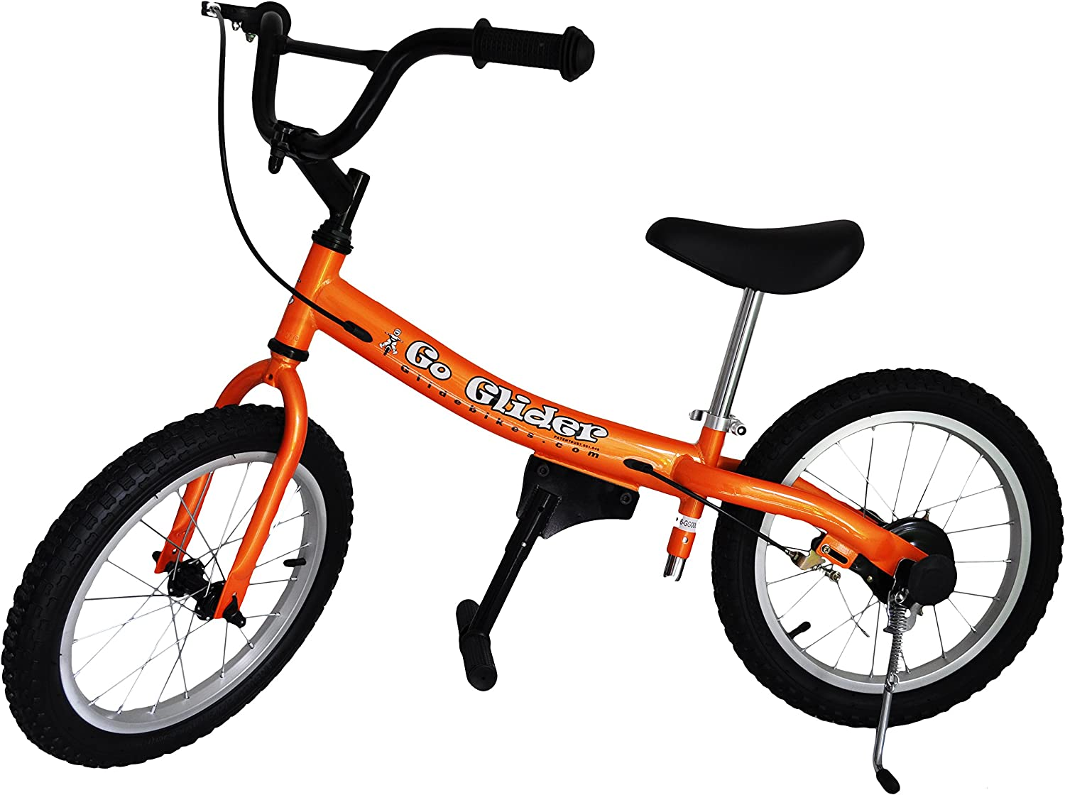 Glide Bikes Kid's Go Glider Balance Bike, Orange, 16-Inch: Sports & Outdoors