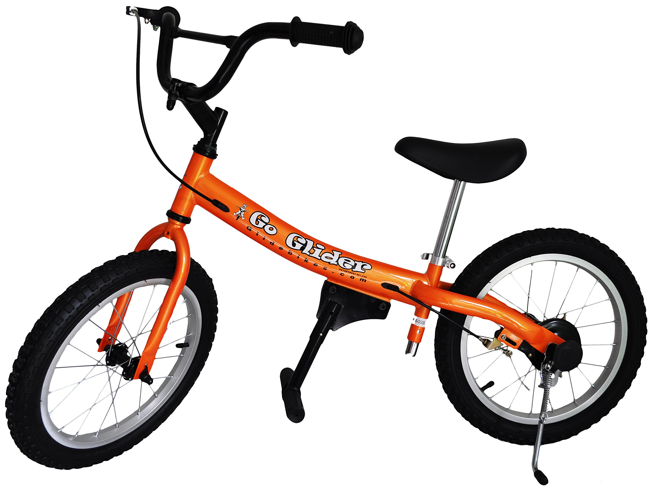 Glide Bikes Kid's Go Glider Balance Bike, Orange, 16-Inch