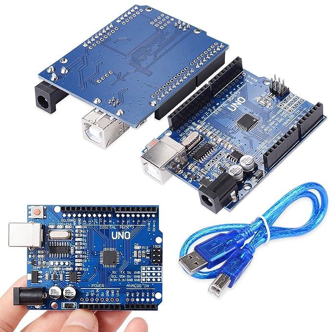 XCSOURCE® Tablero UNO R3 Rev3 Desarrollo ATmega328P CH340G AVR Compatible Arduino + Cable para Arduino HUM TE113: Amazon.es: Electrónica