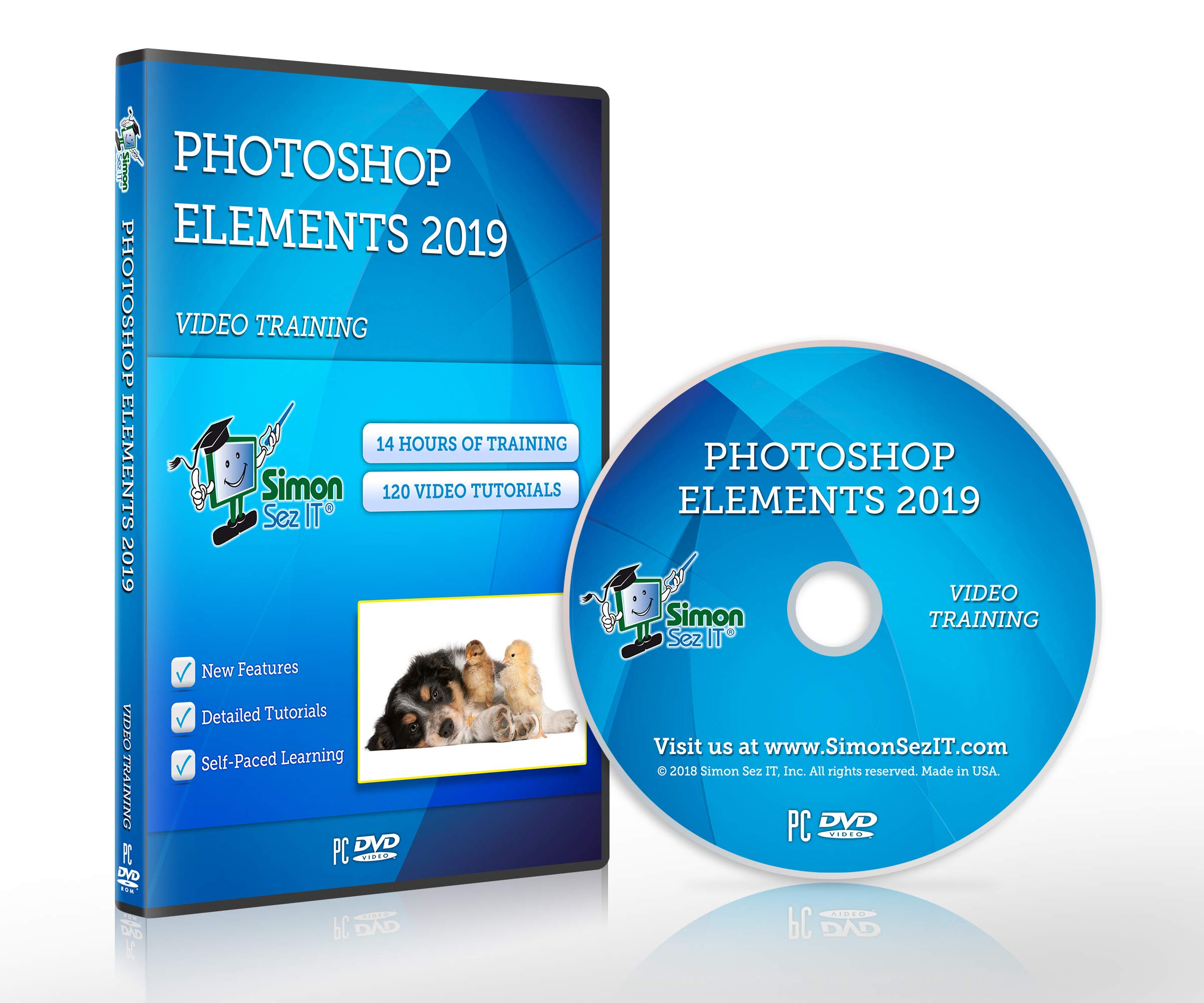Photoshop Elements 2019 Self-Paced DVD Training Course By Simon Sez IT. Learn Photoshop Elements 2019 by Simon Sez IT