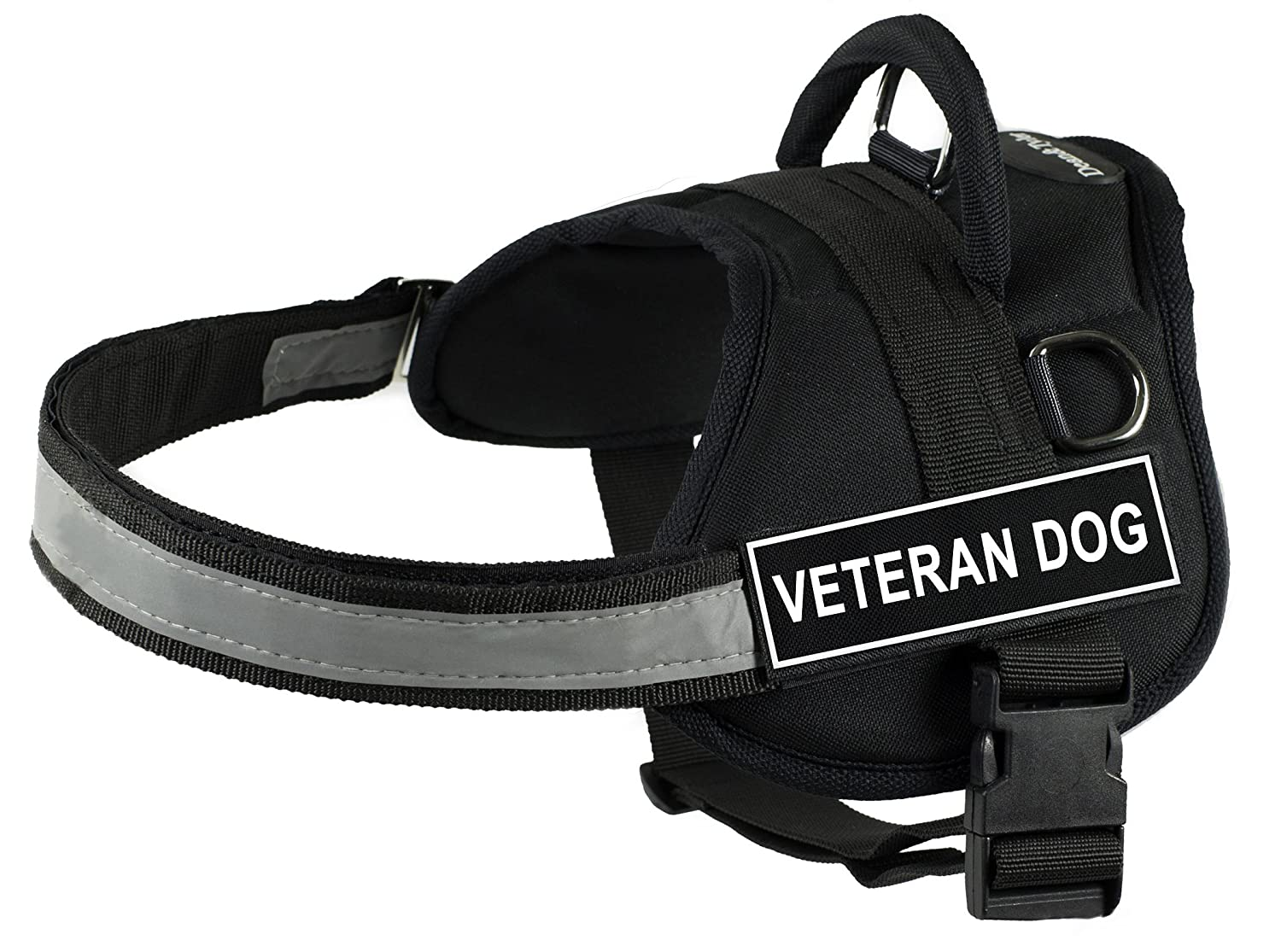 Dean & Tyler 25-Inch to 34-Inch Pet Harness, Small, Veteran Dog, Black