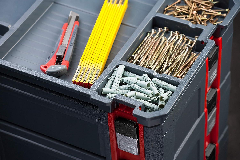 Sechs einzelne Trennw/ände Zur individuellen Fachaufteilung Optionales Zubeh/ör // Organizer // Trennwand-Einsatz // COXT566207 Connex Abteiler Passend f/ür Systembox Gr/ö/ße L