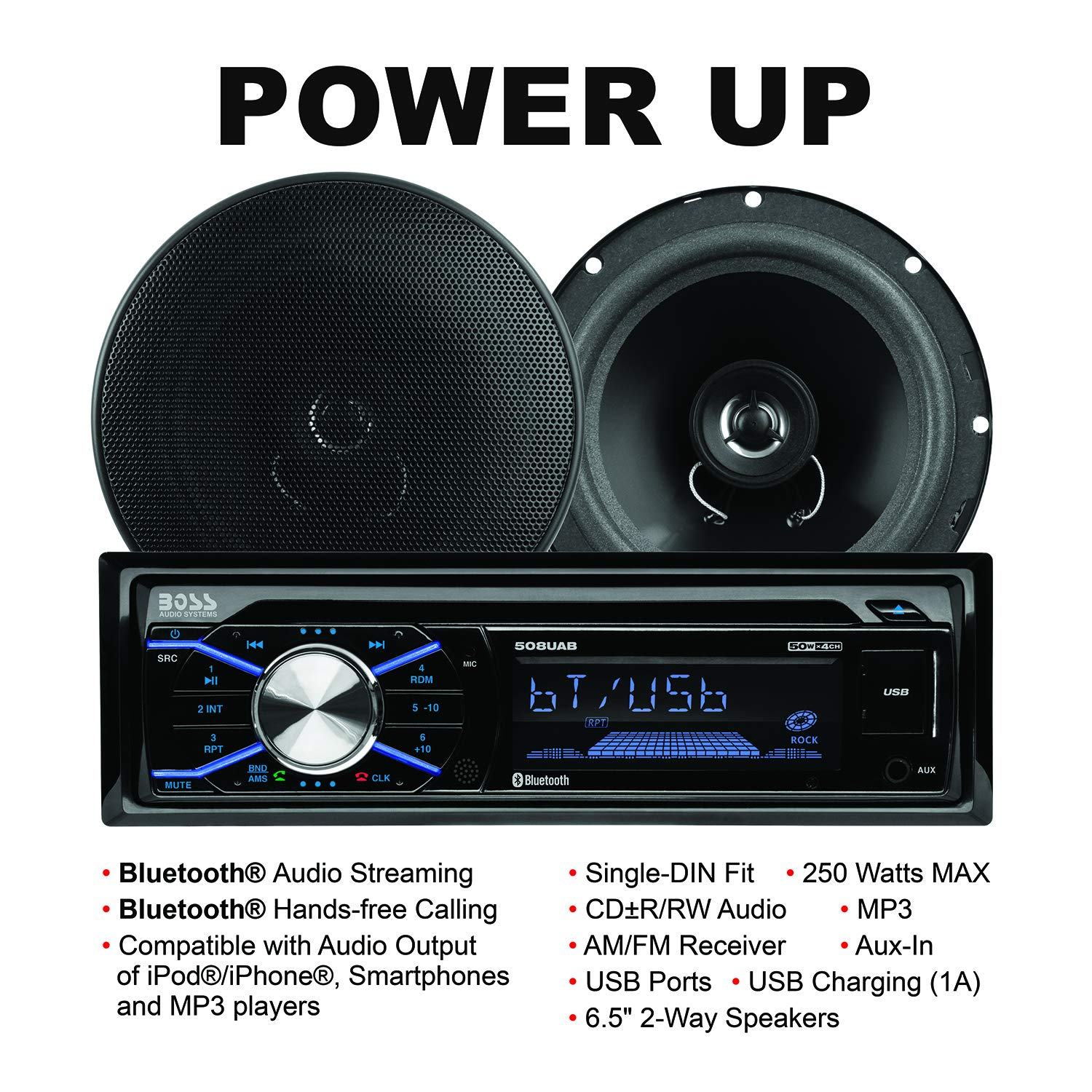 BOSS Audio 656BCK Car Stereo Package