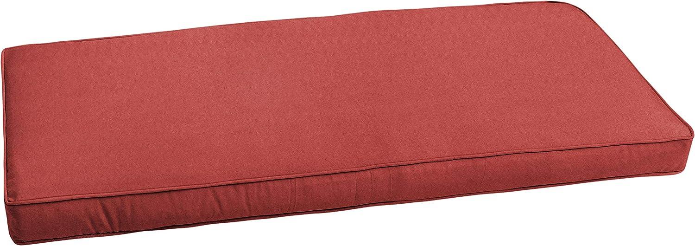 Mozaic AMZCS111287 CBENCH-SB Indoor/Outdoor Bench Cushion-Bristol, 60 in W x 19 in D, Sunbrella - Canvas Henna