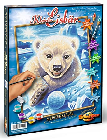 Schipper Little Polar Bear Paint by Numbers Painting Set (Multi ...