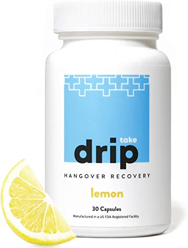 Take Drip Hangover Prevention Pills – TOP Rated Formula – Liver Support Nutrient Replenishment, Prevent Hangovers, Nightlife Prep Supplement, Dihydromyricetin DHM , Prickly Pear, N-Acetyl-Cysteine