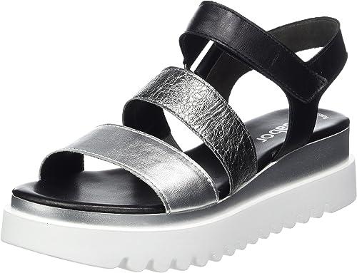 Gabor 23.610 Damen Sandalen,Keilsandalen, Frauen,Keilabsatz Sandaletten,Keilsandaletten,Sommerschuh,flach,Best Fitting