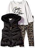 Juicy Couture Baby-Girls 3 Pieces Puff Vest Set Pants Set - Multi