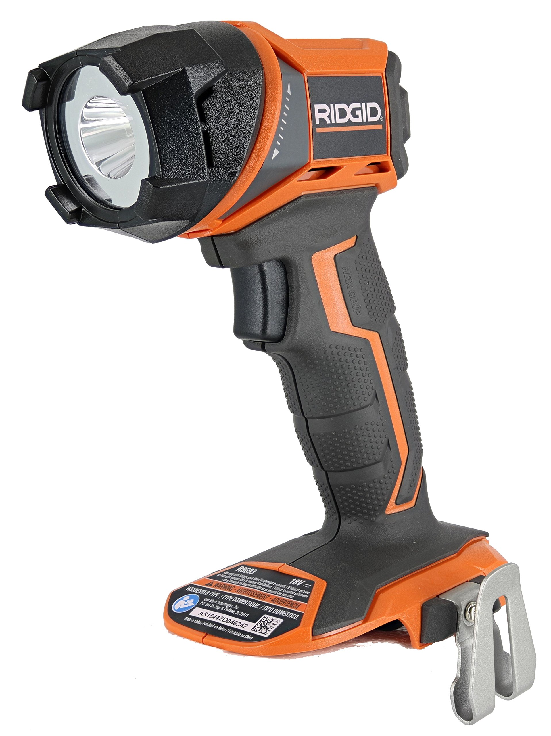 Ridgid R8693 Gen5x Lithium Ion Cordless LED Focused Hi-Beam Flashlight (Batteries Not Included, Flashlight Only)