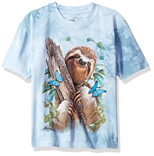 27900ee8172 Amazon.com  The Mountain Kids  T-Shirt - Sloth   Butterflies  Clothing