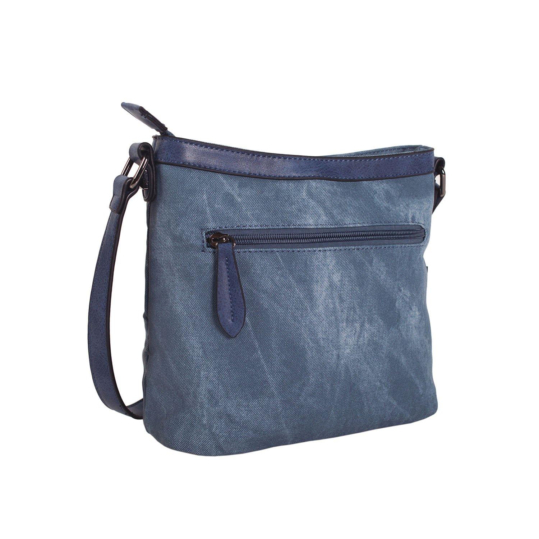 12d1b256b Lois - BOLSO BANDOLERA WRINKLED 24545, Color Azul vaquero: Lois: Amazon.es:  Zapatos y complementos