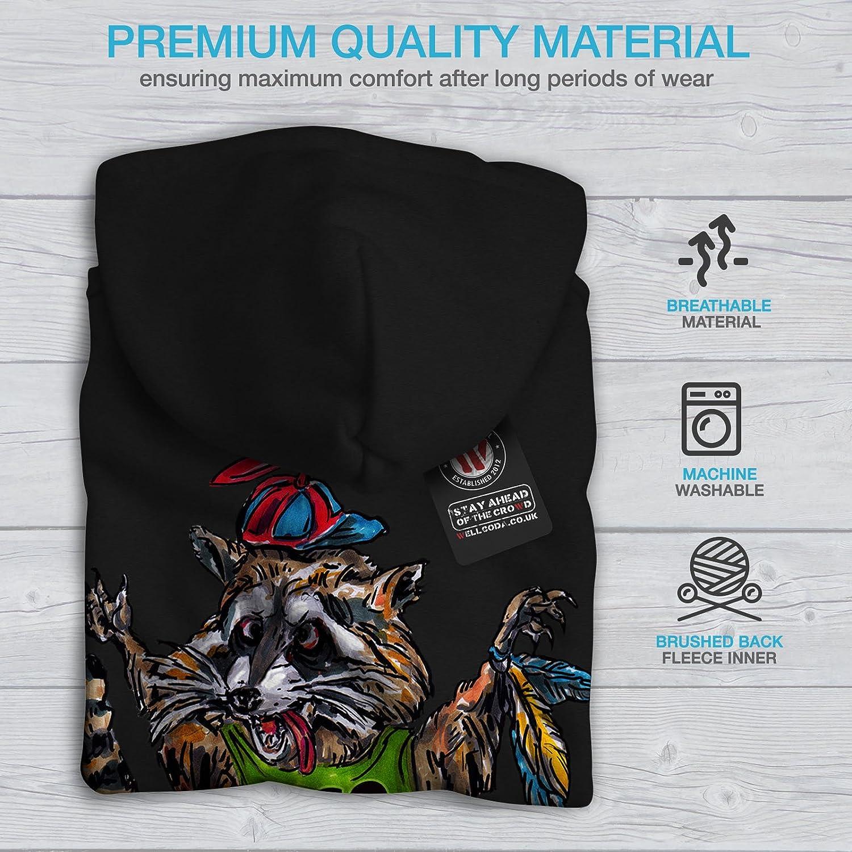 Animal Printed on The Jumpers Back wellcoda Funny Raccoon Cute Mens Hoodie