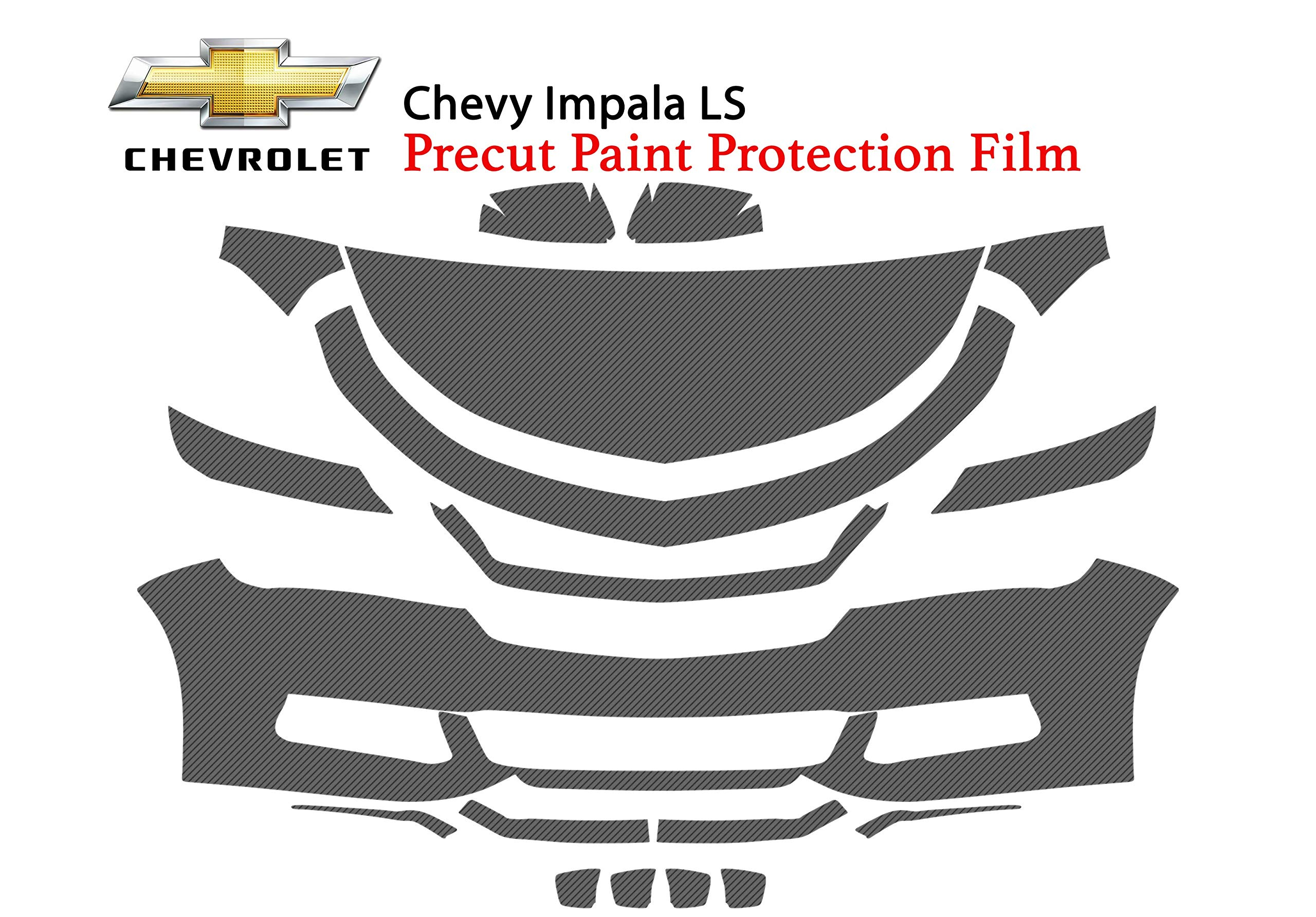 The Online Liquidator Precut Clear Bra Paint Protection Film Kit fits Chevy Impala LS 2018 - Premium Full Front Vinyl Wrap Surface Safeguard Armor Cover