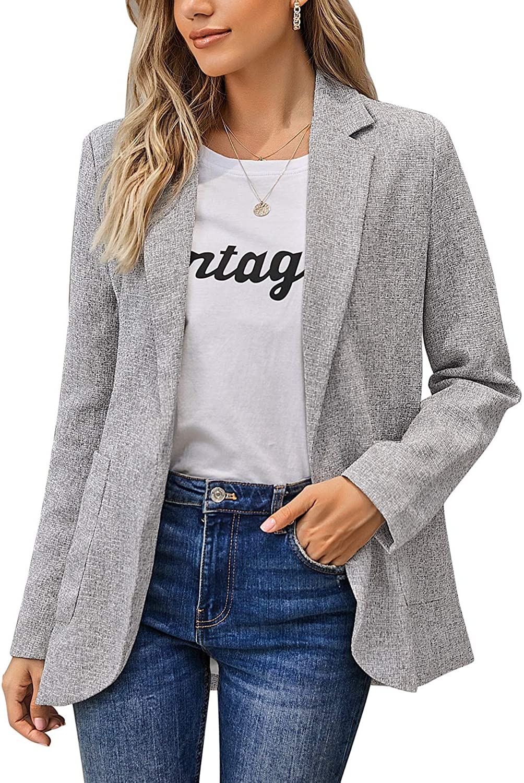 LookbookStore Women Casual Open Front Long Sleeve Jacket Suit Work Office Blazer