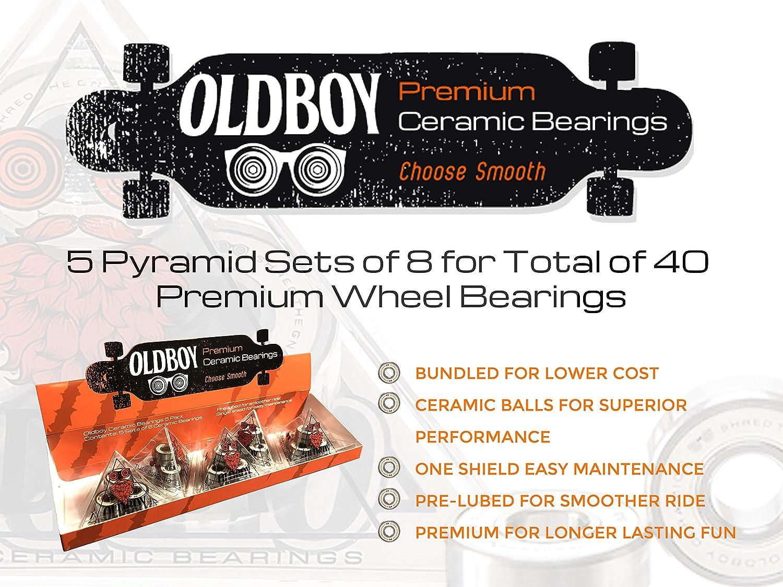 Open Package Dragon Skateboard /& Inline Skates 8-Pack Bearings