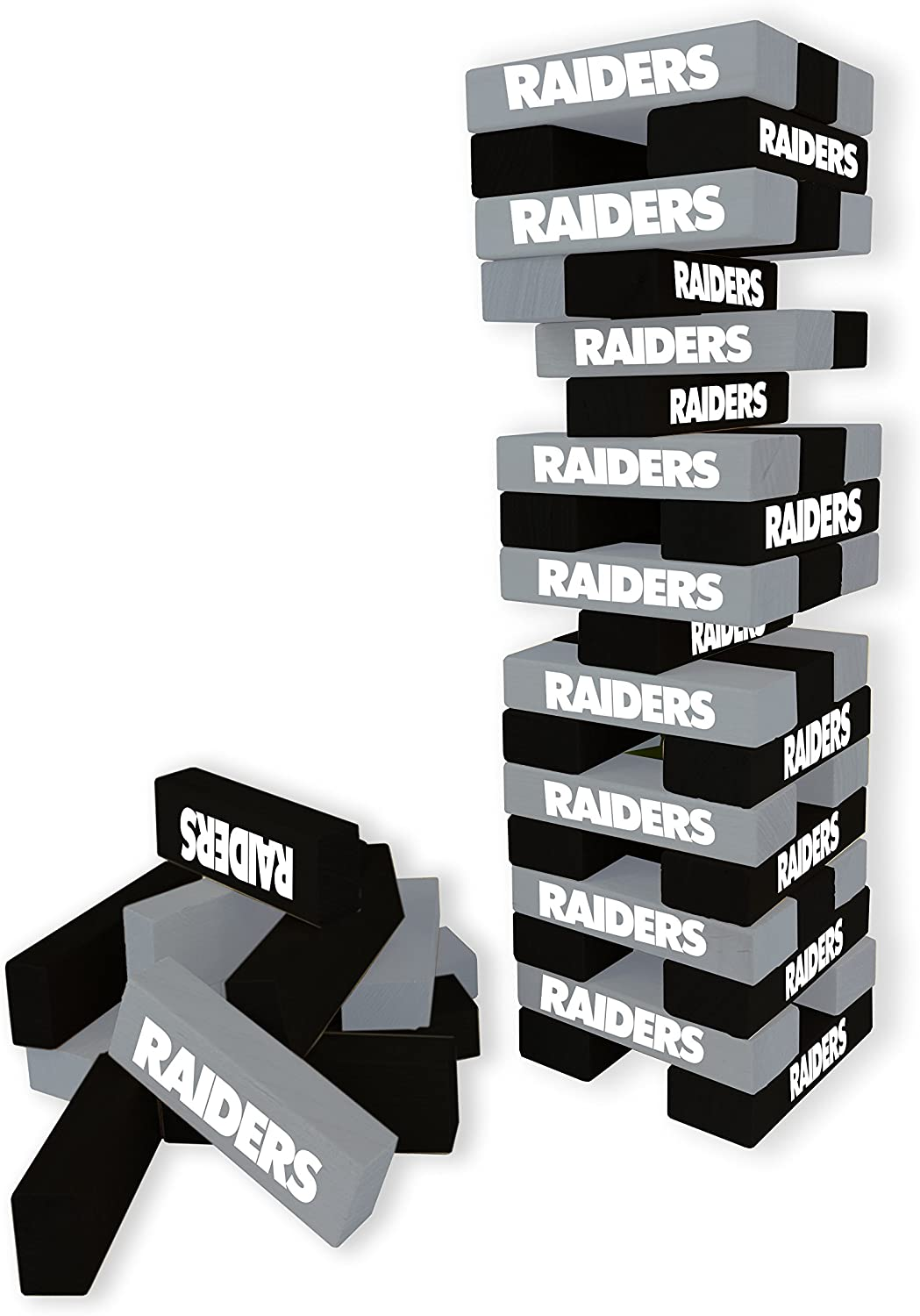 Wild Sports NFL Oakland Raiders Table Top Stackers Game