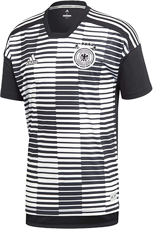 185199c2fe2 adidas 2018-2019 Germany Pre-Match Football Soccer T-Shirt Jersey (White