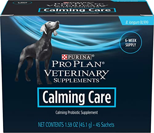 Purina Pro Plan Veterinary Supplements Calming Care Canine Formula Dog Supplements – 45 ct. Box