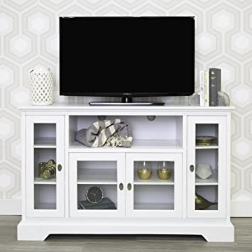 tall white tv stand. we furniture 52\u0026quot; wood highboy style tall tv stand - white tv