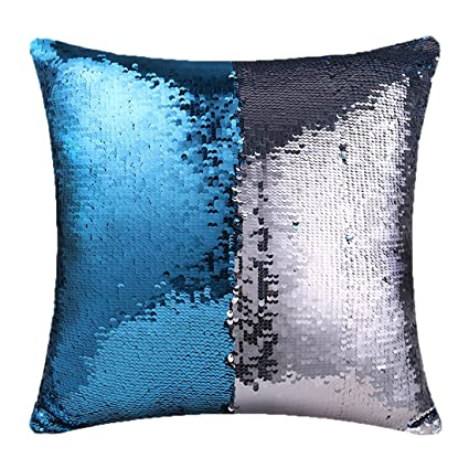 magic mermaid pillow cover reversible sequins color changing pillow case bling bling sequins cushion cover gift - Color Changing Pillow