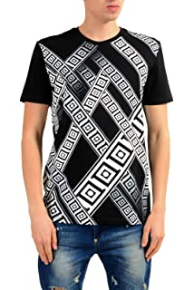 67091c85 Amazon.com: Versace Collection Baroque Print Tee, Black ($250): Clothing
