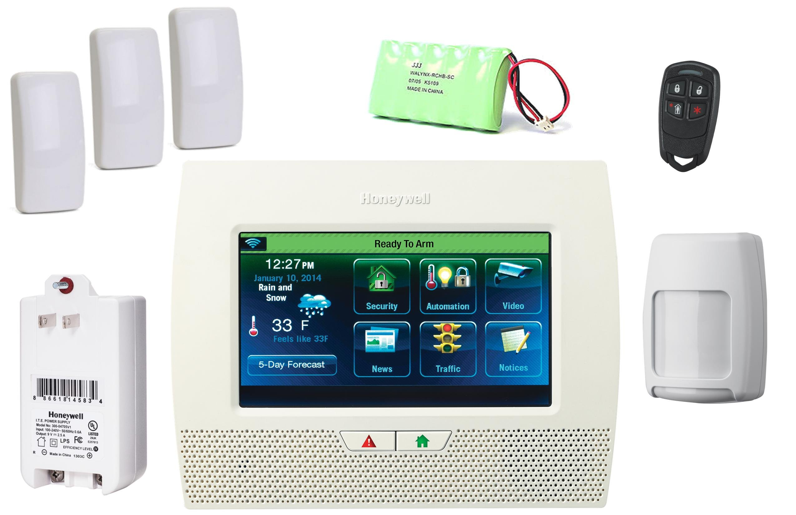 Honeywell Lynx Touch L7000 Wireless Security Alarm Slim Line Kit