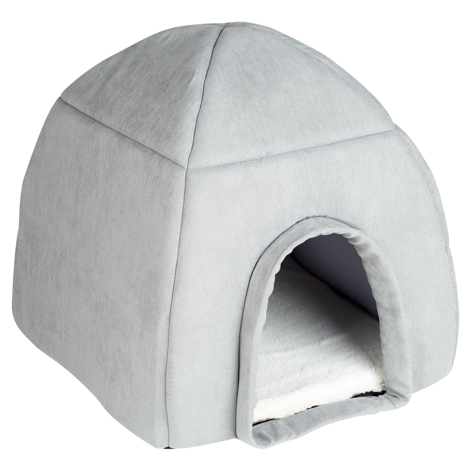 Me and My Large Grey Igloo Pet Bed
