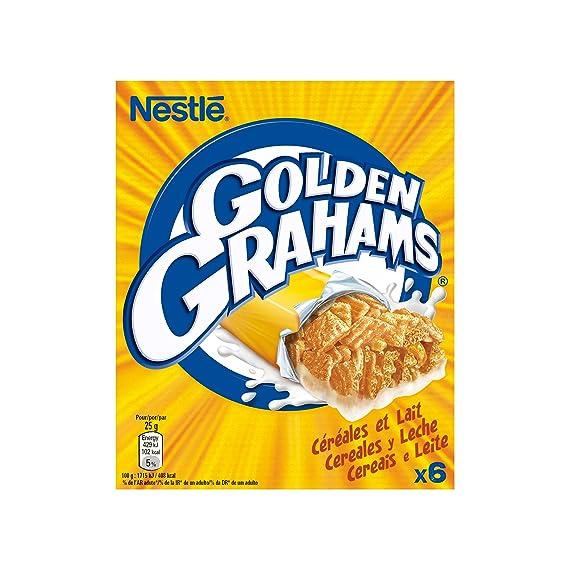 Cereales Nestlé Golden Grahams, Barritas con Maíz y Trigo Tostado, 6 x 25 g