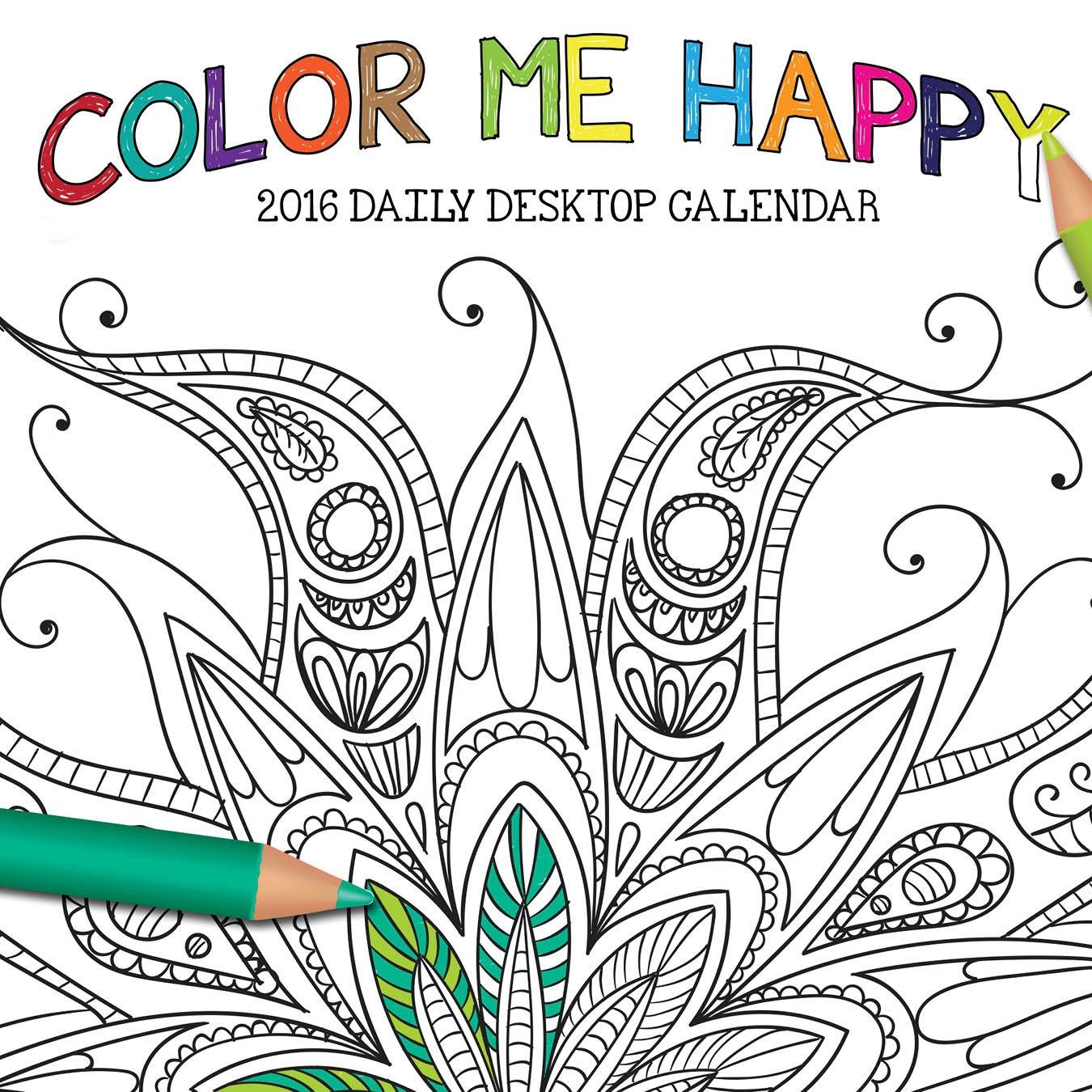 Download 2016 Color Me Happy Daily Desktop Box Calendar pdf epub