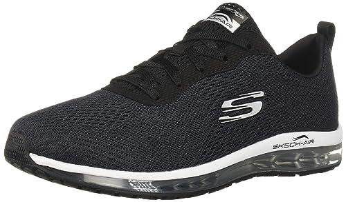 Skechers - Scarpa Sportiva Nera con Memory Foam: Amazon.it ...