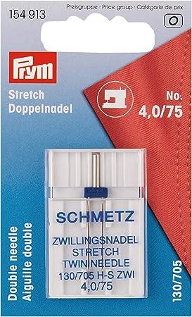 Prym Schmetz 154913-Aguja Doble para máquina de Coser Stretch 130 ...
