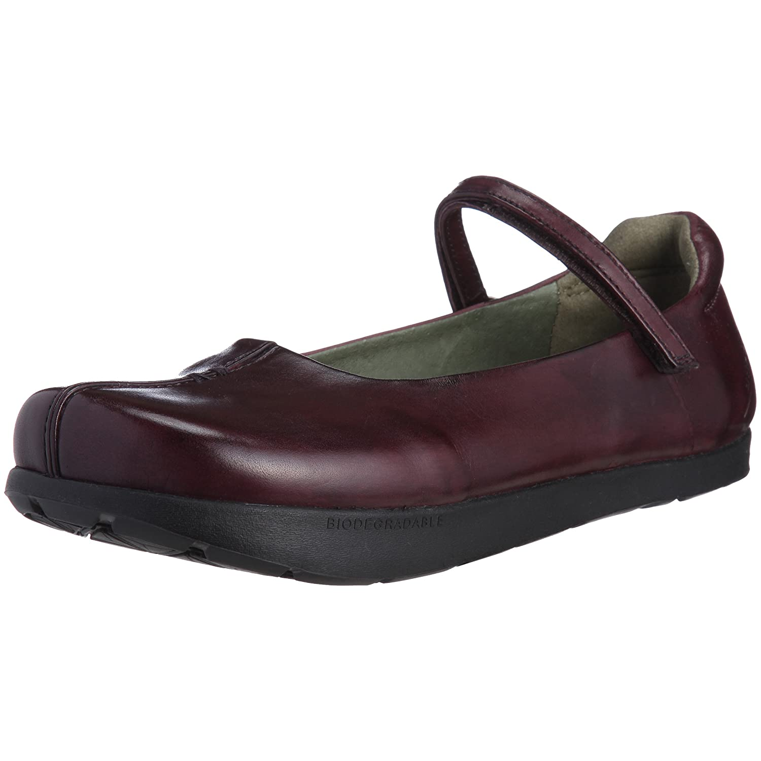 Kalso Earth 100349WLEA Womens Solar Single Strap Flat Shoe B002XQ1V4I 9 B(M) US|Plum