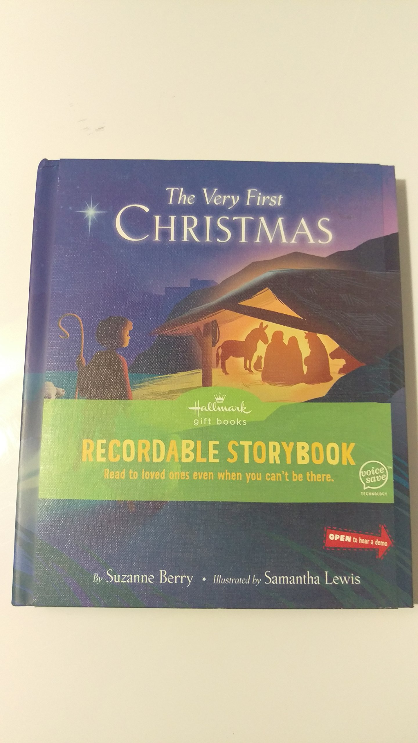 The Very First Christmas Hallmark Recordable Storybook: Suzanne Berry,  Samantha Lewis: Amazon: Books