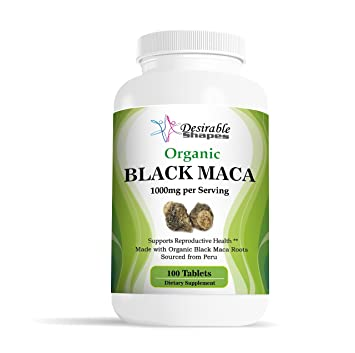 Amazon.com : Desirable Shapes Organic Peru black maca root tablets 1000 milligram per serving dietary supplement, 100 tablets per bottle, natural NON-GMO ...