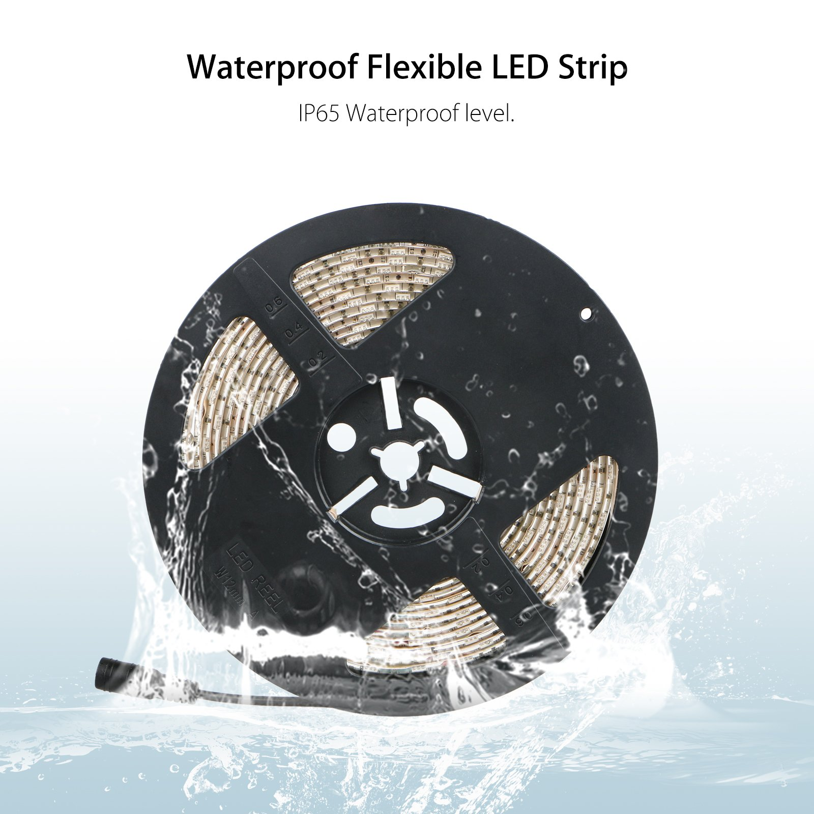 LinkStyle UV Black Lights LED Strip, 16.4Ft 300 LEDs 5050 SMD Ultraviolet Light UV LED Strip Light, Flexible & IP65 Waterproof DC 12V Purple Light Night Fishing(Power Adapter Not Included) by LinkStyle (Image #5)