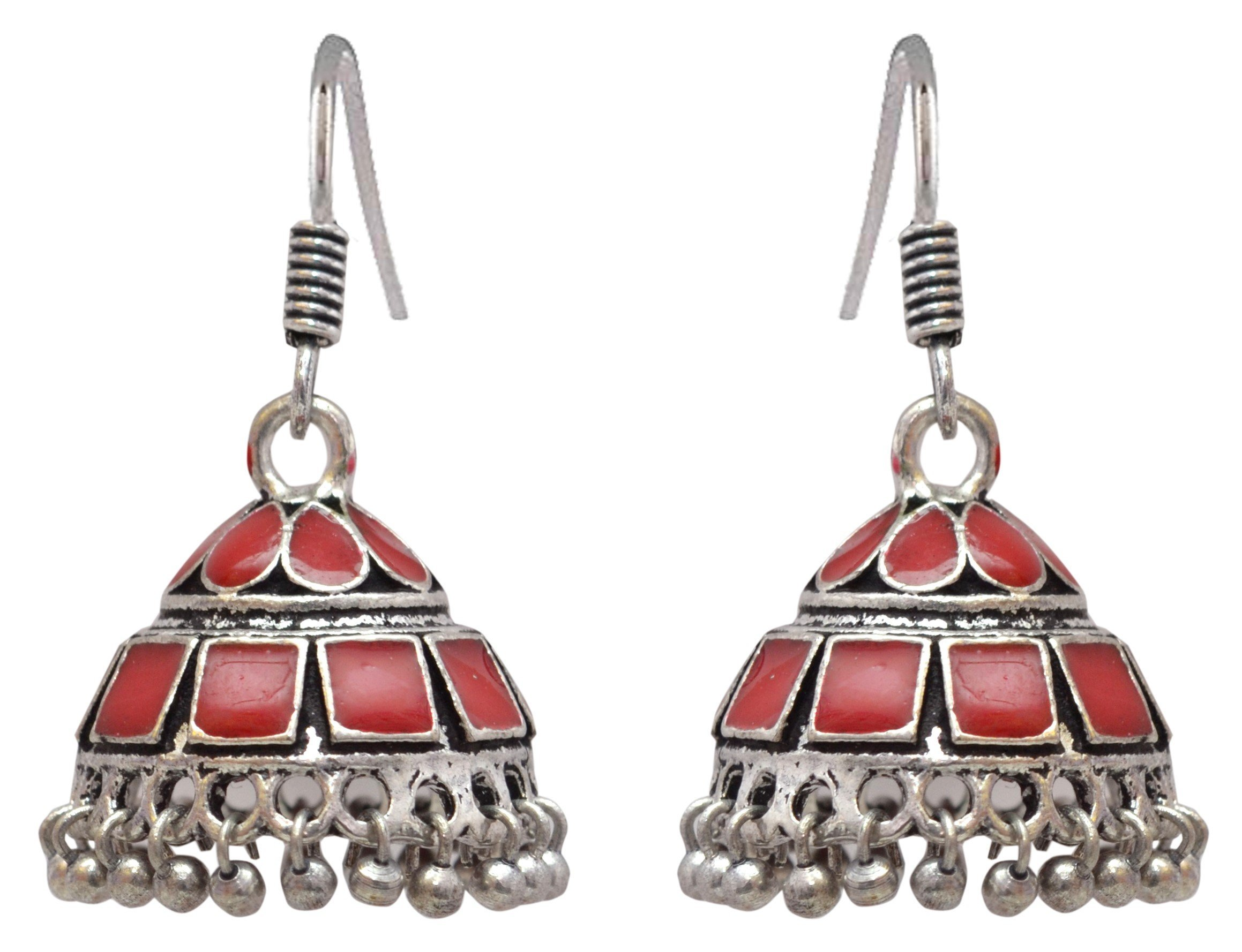 Sansar India Enamel Lightweight Jhumka Indian Earrings Jewelry for Girls and Women 1383 by Sansar India (Image #1)