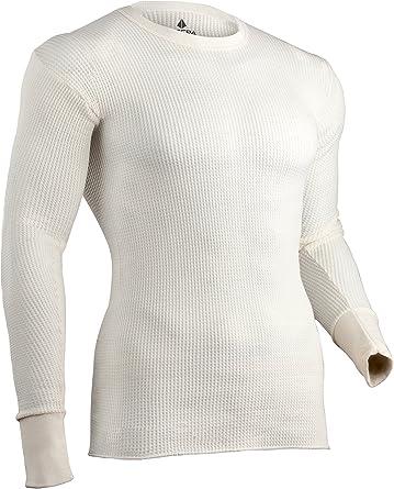 INDERA - Camiseta térmica para Hombre, Talla 3XL, Color Natural
