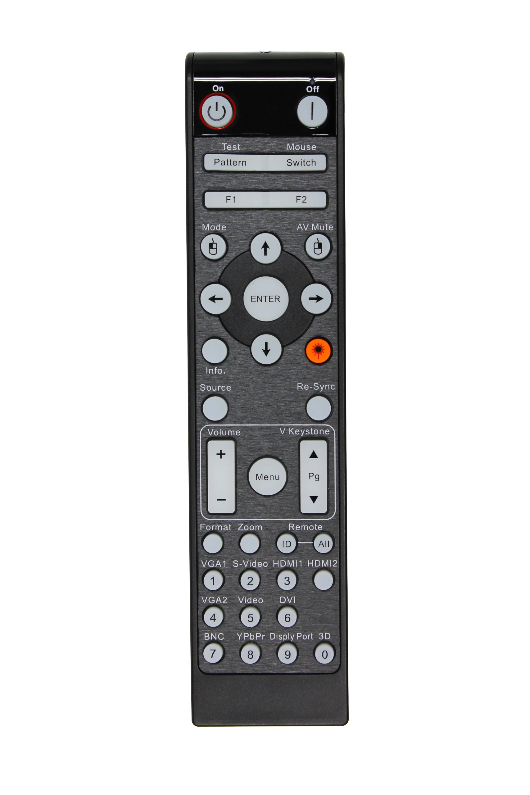 Optoma BR-3070L Remote Control with Laser and Mouse, Black