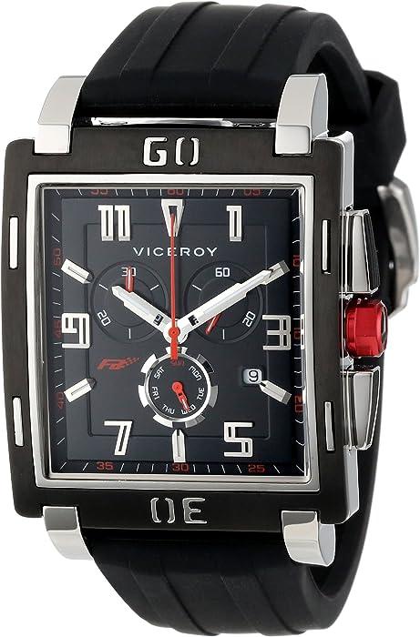 Viceroy 47719-55 - Reloj de Pulsera Hombre, Caucho, Color Negro