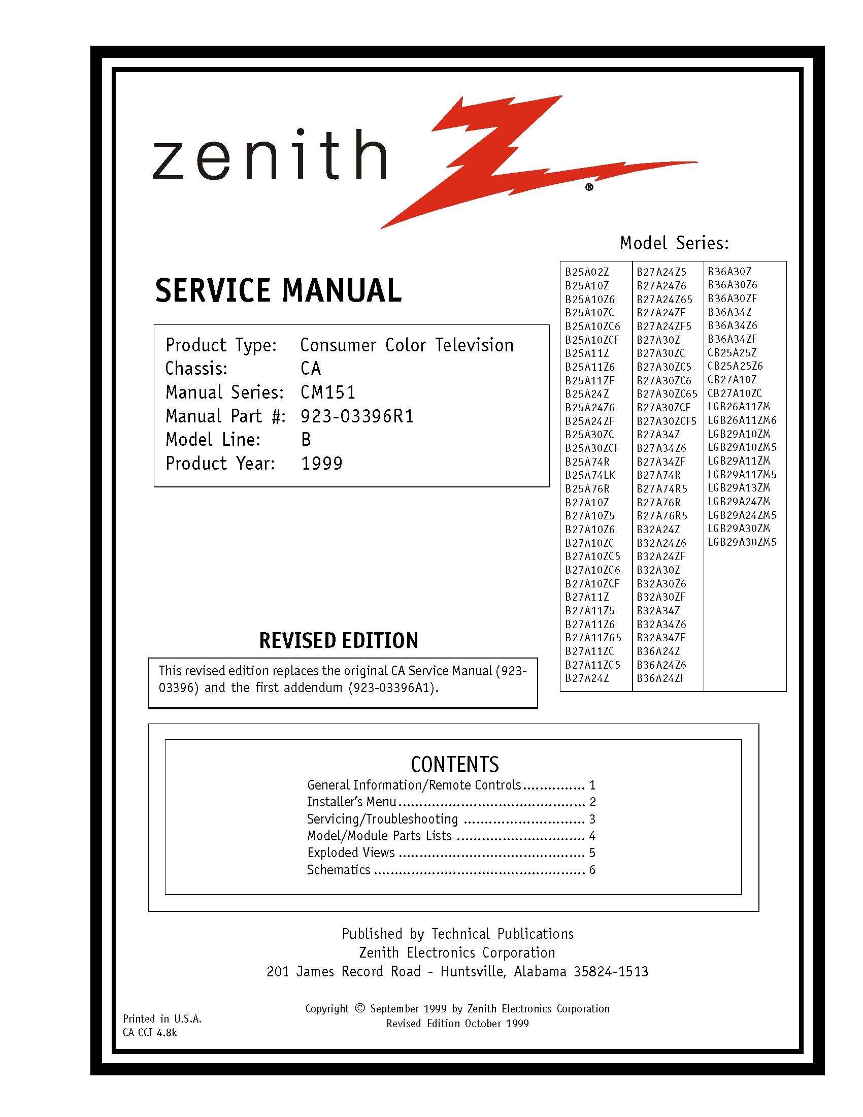 b25a02z b25a10z b25a10z6 b25a10zc service manual zenith amazon com rh amazon com Zenith Tube Radio Schematics Zenith Radio Service Manual