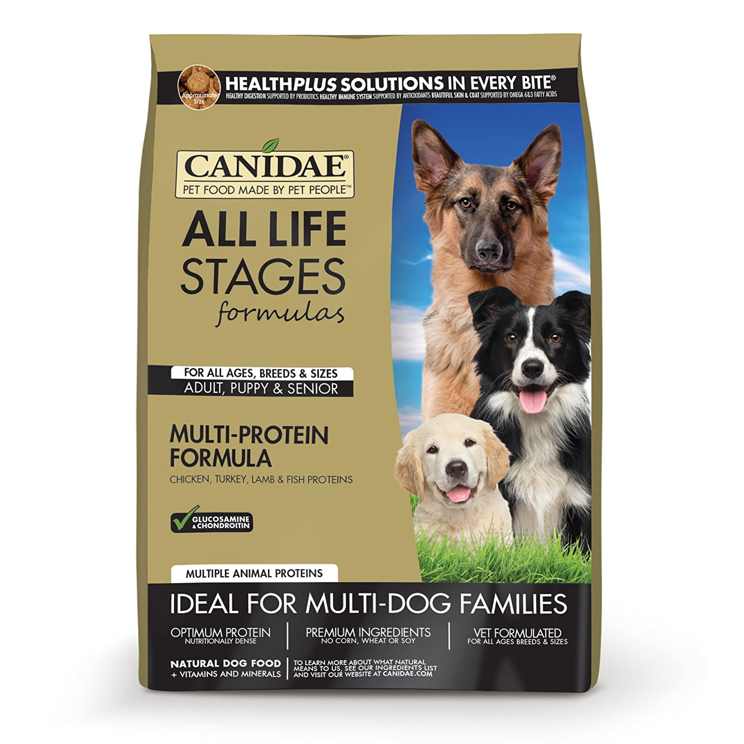 CANIDAE Life Stages Dry Dog Food for Puppies, Adults & Seniors