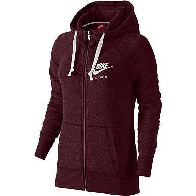 Discount Women Nike Gym Full-Zip 726057-681 Night Maroon Sail For Sale