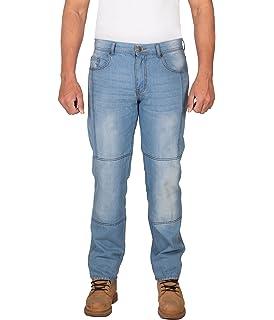 Amazon.com: HB Straight Fit motocicleta jeans reforzado con ...