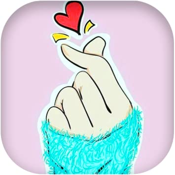 Amazoncom Finger Heart Wallpaper Kpop Things 3 Appstore