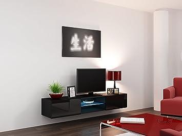 Banburymodernfurniture Bmfvigo Glas Schwebendes Tv Regal Tv