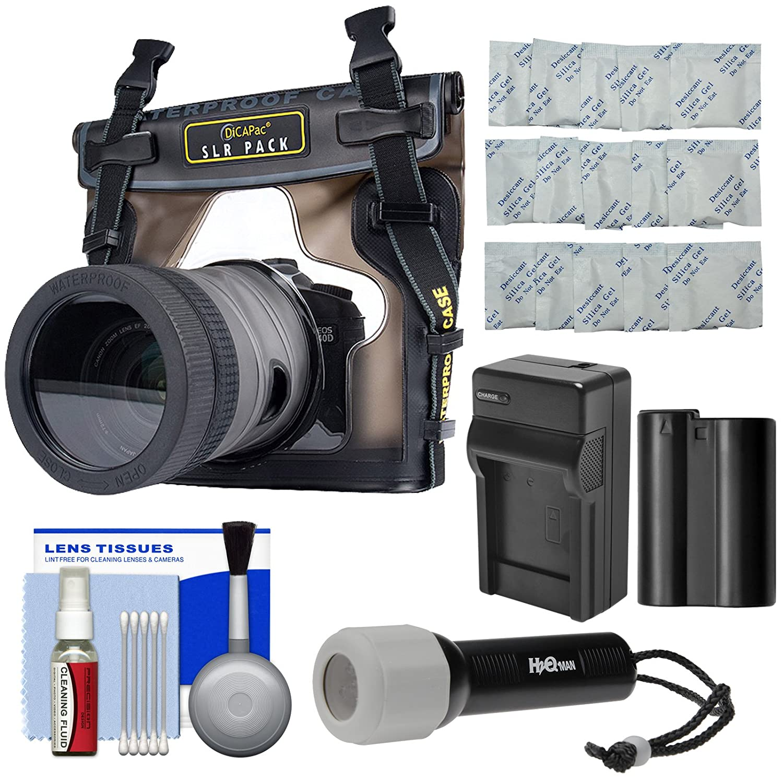 DiCAPac WP wp-s10防水ケースfor DSLR Cameras with en-el15バッテリー&充電器+キットfor Nikon d7100、d7200、d7500、d610、d750、d810   B071L1PCV9