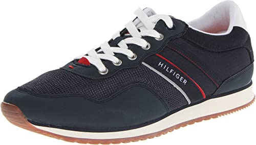 f2a63e1fde5e2 Tommy Hilfiger Marcus Fashion Sneaker Dark Blue Fabric 10 D(M) US  Buy  Online at Low Prices in India - Amazon.in