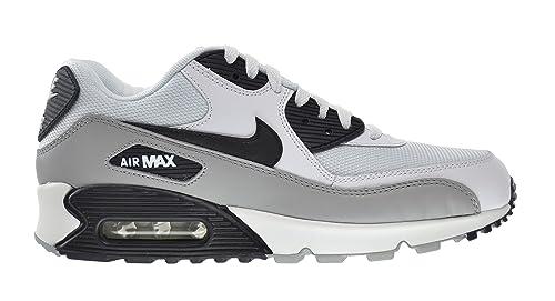 more photos c7627 d1381 Nike Air Max 90 Essential Men s Shoes White Black-Metallic Silver-Natural  Grey