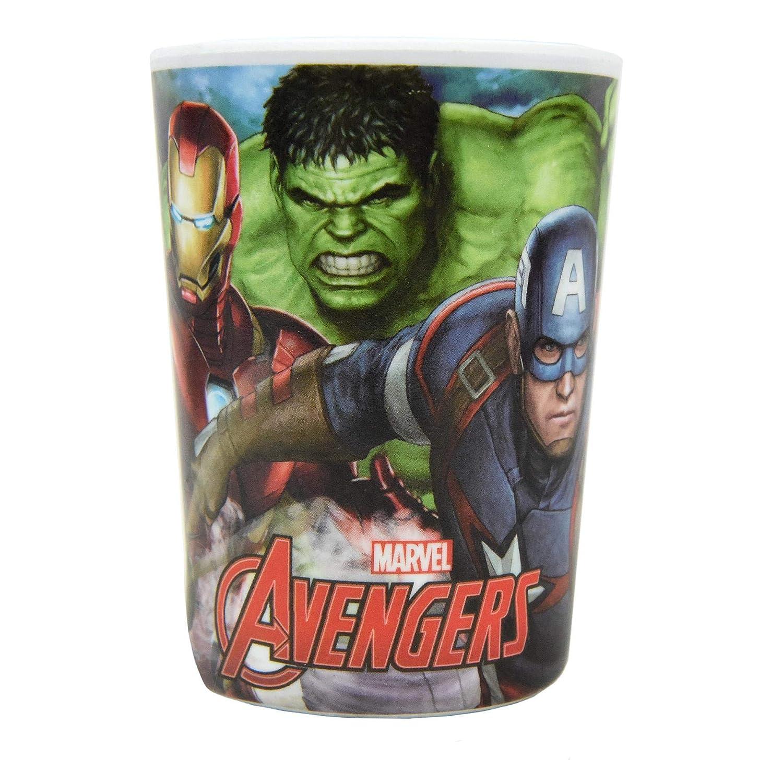 f/ür Kinder Marvel Avengers 3-teiliges Geschirr-Set aus Melamin Sch/üssel und Becher BPA-frei Teller