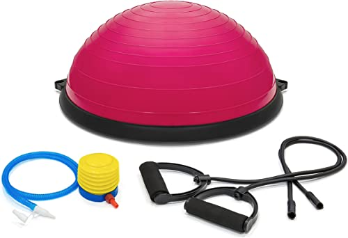 Best Choice Products Yoga Balance Trainer Exercise Ball for Arm, Leg, Core Workout with Pump, 2 Resistance Bands